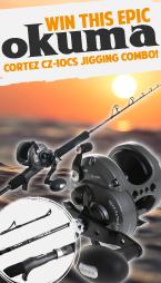 Win this Epic Okuma Cortez CZ-10CS Jigging Combo!