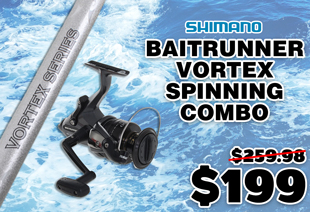 Shimano Baitrunner 4000 FB and Vortex Spinning Combo 6ft 10in 4-6kg