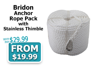 Bridon Anchor Rope Pack with Stainless Thimble