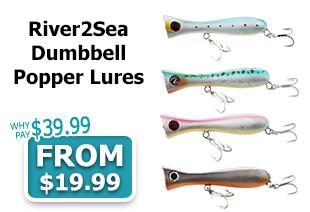 River2Sea Dumbbell Popper Lures
