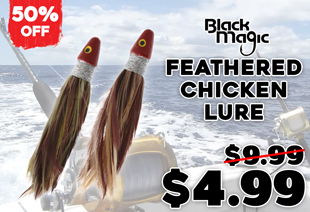 Black Magic Feathered Chicken Lure