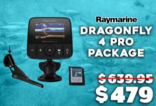 Raymarine Dragonfly 4 PRO GPS/Fishfinder Package
