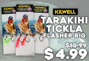 Kilwell UV Tarakihi Tickla Flasher Rig