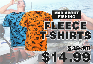 Mad About Fishing Fleece T-Shirt Manufacturer Seconds