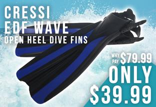 Cressi EDF Wave Open Heel Dive Fins