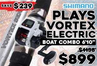Shimano Dendou-Maru Plays 1000 Power Assist and Vortex Electric Boat Combo 6'10''