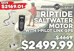 Minn Kota Riptide RT55ST Saltwater Electric Motor with i-Pilot Link GPS Trolling System 55lb 12V