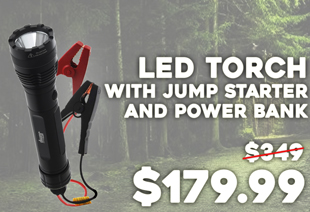 Hi-Power LED Torch with Jump Starter and Power Bank