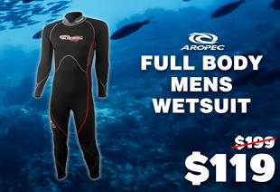 Aropec Streamline Full Body Mens Wetsuit 3mm