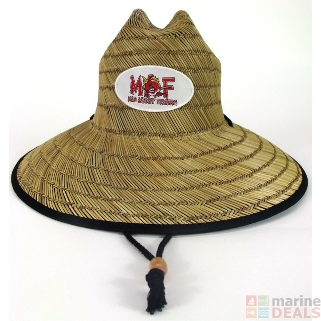 Mad about fishing straw hat hats caps beanies apparel for Fishing straw hat