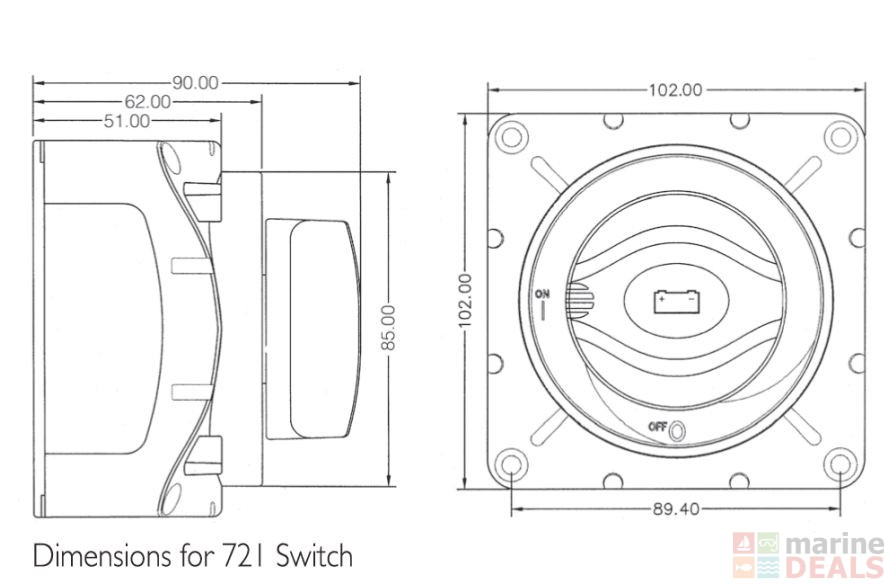 buy bep marine heavy duty battery selector switch online