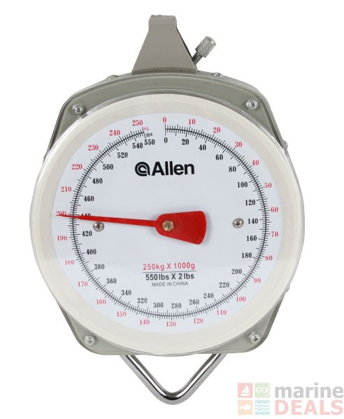 Buy allen sportsman weighing scale 250kg online at marine for Fish weight scale