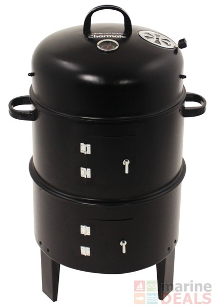 Buy charmate charcoal smoker grill online at marine deals for Smoking fish electric smoker