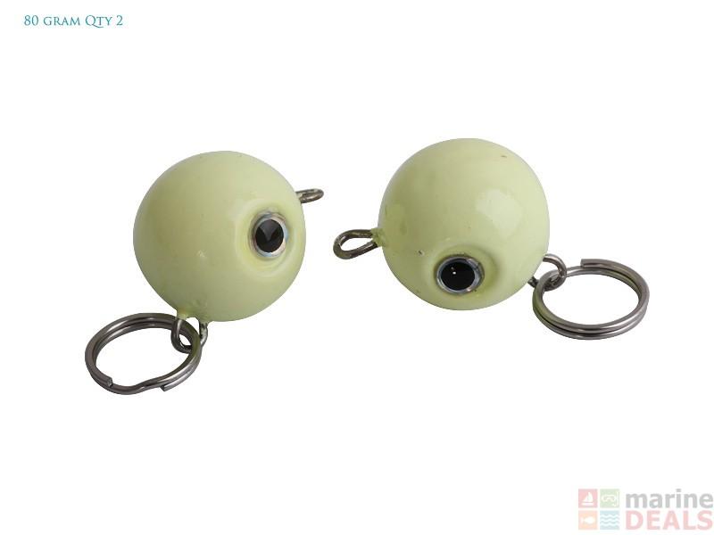 Buy holiday cyclops deep water soft bait jig head online for Balls deep fishing weights