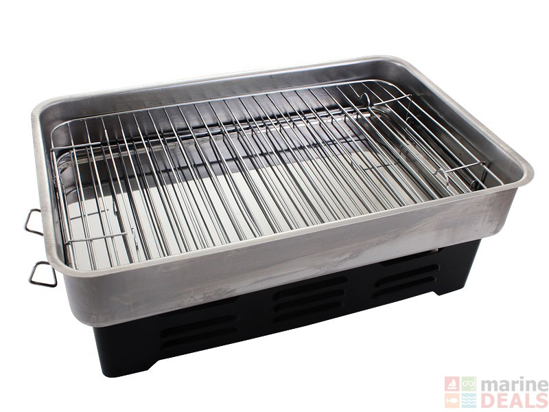 Buy stainless steel smoker cooker with 2 burners online at for Fish cooker burner