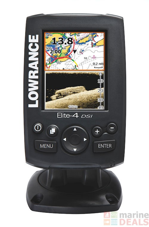 Lowrance elite 4 dsi gps chartplotter fish finder combo for Lowrance fish finder gps
