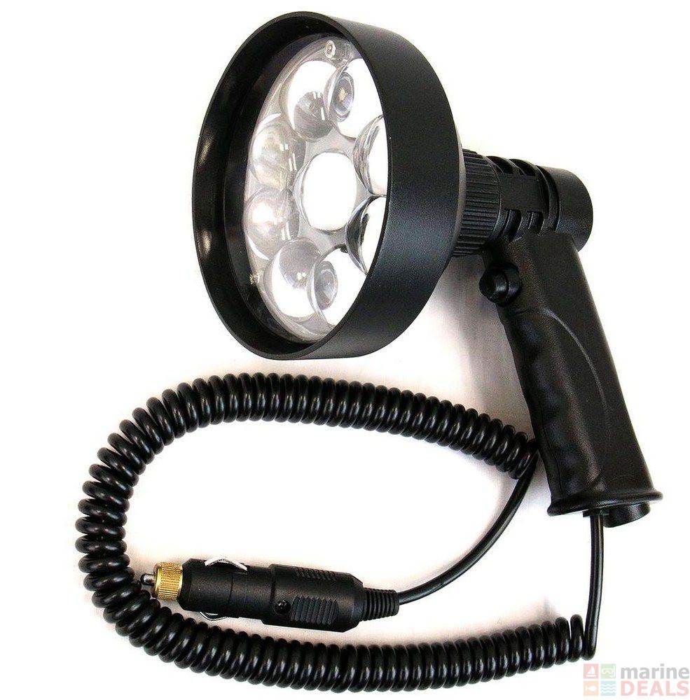 buy night saber handheld coil cord led spotlight 27w 3000. Black Bedroom Furniture Sets. Home Design Ideas