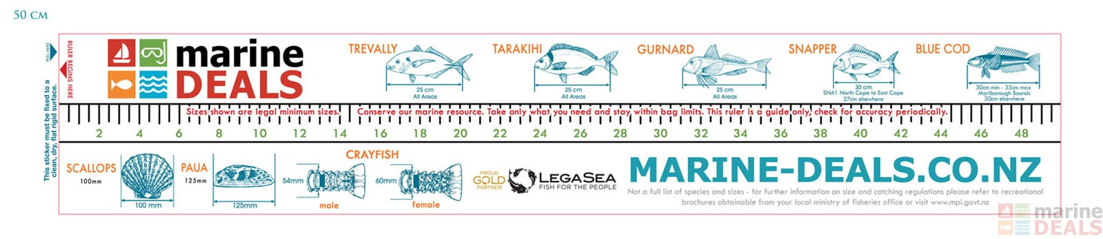 Buy marine deals fish measure sticker online at marine for Fish ruler sticker