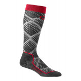 Icebreaker Mens Ski+ Ultra Light Cushion Over-The-Calf Socks Piste Black/Grey/Red