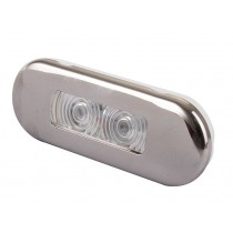 LED Oblong Courtesy Lights Stainless Waterproof