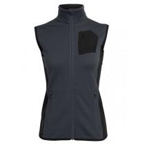 Icebreaker Womens Merino Atom Vest Jet Heather/Black