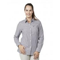 Swanndri Womens Dublin Wool Blend Long Sleeve Shirt Mulberry Check
