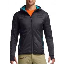 Icebreaker Mens MerinoLOFT Helix Long Sleeve Zip Hood Jacket Carbon/Alpine