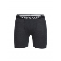 Icebreaker Mens Merino Anatomica Long Boxers Jet Heather/Black