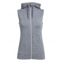 Icebreaker Womens Merino Dia Vest Gritstone Heather/Snow