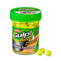 Berkley Gulp Alive Floating Salmon Eggs Flourescent Yellow