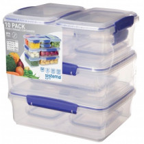 Sistema KLIP IT Sealed Container 10 Piece Value Pack