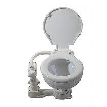 Manual Marine Toilet with Plastic Seat and Cover