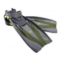 Aqualung Hotshot Adjustable Fins Green Adult Small
