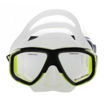 U.S. Divers Quadra Clear Silicone Mask Neon Yellow