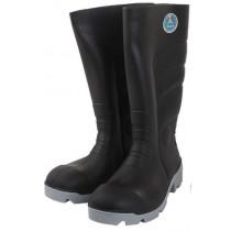 Bata Worklite Anti-Slip Safety Gumboots Black Grey