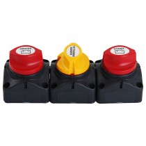 BEP Marine Dual Battery Switches with Emergency Parallel