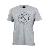Swanndri Mens Sportsman Cotton T-Shirt Grey Marle