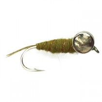 Black Magic Leadeye Olive Bomb Trout Fly #B10 Hook