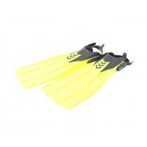 Aropec Open Heel Dive Fins Yellow Large