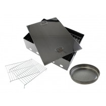 Buffalo River 2 Tray Portable Stainless Smoker Medium 445x325x150mm