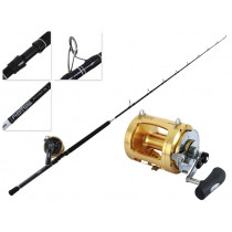 Shimano Tiagra 80 WA and Abyss SW Overhead Pitch Bait Combo 6'4'' 40-100lb