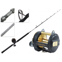 Shimano TLD 30A 2 Speed Lever Drag and Vortex Overhead Boat Combo 5'6'' 24-37kg
