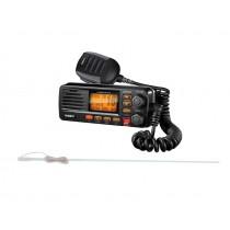 Uniden Solara VHF Radio with Pacific VHF Antenna 1.5m Black
