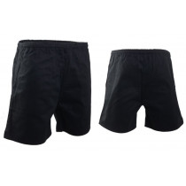 Swanndri Mid Length Rugby Shorts Black