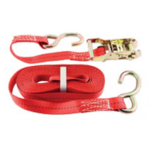 Bridon Cookes Heavy-Duty 750kg Ratchet Tie Down Strap 25mm x 6m Red