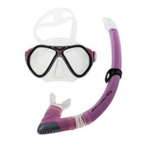 Neptune Flex Ladies Snorkeling Set Silver Pink