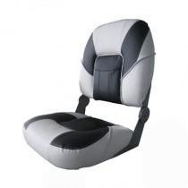 Deluxe Premier Boat Seat Grey/Grey/Black