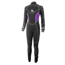 Aropec Prima 5mm Super-Stretch Semi-Dry Womens Wetsuit and Outer Jacket