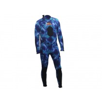 Aropec Blue Camouflage Mens Spearfishing Wetsuit 2mm