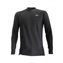 Aropec Quick-Dry Mens Long Sleeve Thermal Top Black